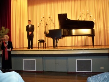 Evgeny Ukhanov at the Steinway Launch